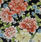 Akahana Asian Floral Fabric by Red Rooster Cotton Fabric By the Yard