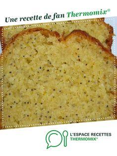 Cake au pavot / citron par Damy. Une recette de fan à retrouver dans la catégorie Pâtisseries sucrées sur www.espace-recettes.fr, de Thermomix<sup>®</sup>.