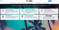 I love img. Nos permite comprimir archivos png, jpg o gif y cambiar sus tamaños #web #Imagenesgratis