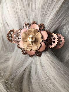 Costume Hair Halloween Skull Hair Clip  Hair by ArcanumByAerrowae