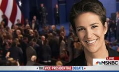 How would MSNBC's Rachel Maddow describe Tuesday's vice presidential debate? There were way too many interruptions, and no one involved looked good.