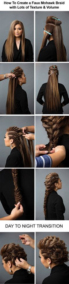 Curly Braided Top Knot Hairstyle Tutorial