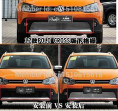 94.10$  Watch now - http://alirf9.worldwells.pw/go.php?t=32746675191 - Quality Stainless steel Car front bumper Mesh Grille Around Trim Racing Grills 2012-2015 For Volkswagen POLO CROSS