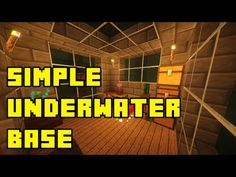 Minecraft: Simple Underwater Base/House Tutorial Xbox/PE/PC/PS3/PS4 - YouTube