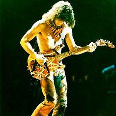 Eddie Van Halen on tour in 1984!