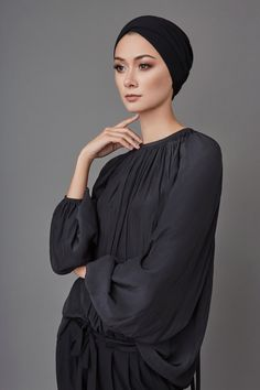little finger Solid Color Braid Beads Decor Women Muslim Hijab Turban Head Scarf Cap Hat