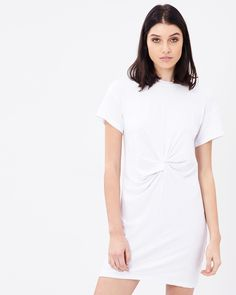 Tayga Twisted Tee Dress by Atmos&Here Online | THE ICONIC | Australia