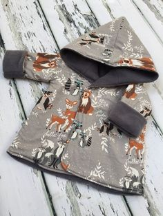 New to LottieandLysh on Etsy: Reversible Jacket - Unisex Clothing - Boys Jacket - Baby Coat - Baby Jacket - Reversible Hoodie - Winter Jacket - Toddler Jacket - Bear GBP) Sewing For Kids, Baby Sewing, Sewing Ideas, Fashion Kids, Grey Fashion, Toddler Fashion, Fashion Boots, Baby Boy Outfits, Kids Outfits