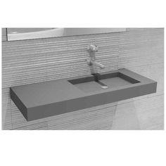 Hightech Cube Betonwaschtisch 120 cm CUS54-93.02-120cm - MEGABAD