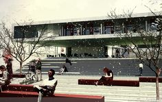 Student Center  Public Square Architectural Competition proposal by Onat Öktem  Ziya Imren