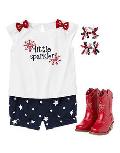 Fourth of july outfit from gymboree! Sadie when she can walk & has hair :)