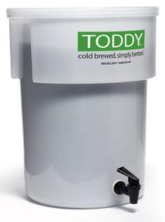 """The Toddy Commercial System uses an engineered and patented cold-water """"brewing"""" process to produce outstanding cold-brewed coffee and tea. The end product is smooth, yet full-bodied and aromatic. Diy Cold Brew Coffee, Cold Brew Coffee Maker, Coffee Shop, Iced Coffee, Coffee Cups, Commercial Coffee Makers, Seattle Best Coffee, Low Acid Coffee, Brewing Equipment"""