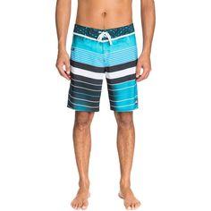 Sale on Quiksilver YG Remix Stripe Men's Boardshorts Sportswear Shorts - Motorhelmets