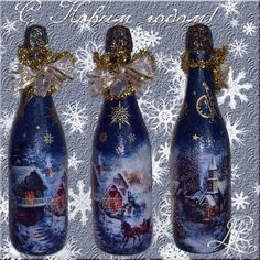 Christmas Decor champagne .. Discussion on LiveInternet - Russian Service Online Diaries