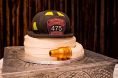 firefighter groom's cake {Andrea Elizabeth Photography via Heart Love Always}