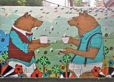 levy creative management, mike byers, mural, red brick cafe, guelph, canada