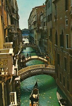 Venecia Italy stood on that bridge only a few months ago