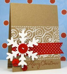 christmas card ideas | ... card with an awesome snow globe on it!? Really love how this card came