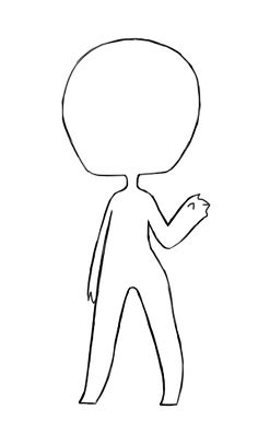 {free base 1 by unipoo----Outline for chili body Kawaii Drawings, Easy Drawings, Human Base, Chibi Body, Free Base, Poses References, Art Poses, Drawing Base, Character Drawing