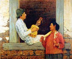 O violeiro (1899). Almeida Júnior (1850-1899). óleo sobre tela (141 X 172). Pinacoteca do Estado de São Paulo, Brasil.