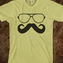 Mustache and Glasses from Glamfoxx Shirts