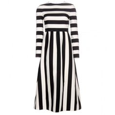 Valentino Striped Wool and Silk-Blend Dress ($4,180) ❤ liked on Polyvore featuring dresses, valentino, black, woolen dress, black striped dress, kohl dresses, wool dress и striped dress