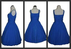 A vintage 1950 Blue Chiffon Gigi Young by HoodooVoodooVintage