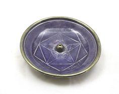 INCENSE BURNER Pentagram Crop Circle  Handmade Raku Pottery by DeBaunFineCeramics on Etsy