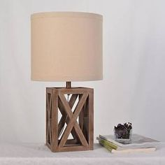 Oversized Wood Assembled Table Lamp - Threshold