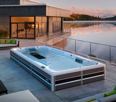 Hidrostyle - Piscina cu sistem Fitness Swimming Pool Pictures, Swimming Pools, Endless Swimming Pool, Endless Spas, Pool Installation, 3d Architectural Visualization, My Pool, Pool Designs, Jacuzzi