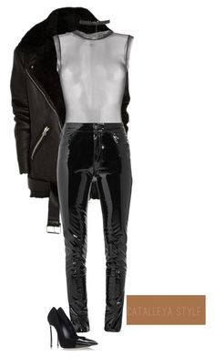 """""""Untitled #1055"""" by vladacatalleyag on Polyvore featuring Murmur, Anthony Vaccarello and Casadei"""