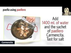 ▶ Spanish Paella Recipe with Paellero Carmencita - YouTube