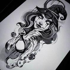 Hangodi János (@hangodijanos) • Instagram-fényképek és -videók Leg Tattoos, Body Art Tattoos, Sleeve Tattoos, Tattoo Sketches, Tattoo Drawings, Traditional Tattoo Girls, Tatuagem Pin Up, Desenho New School, Mujeres Tattoo
