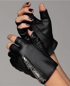 karl lagerfeld fingerless motorcycle gloves