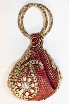 d011fb305 HBG1152 marrom e ouro saco bolsa / embreagem indiano Types Of Handbags,  Purses And Handbags