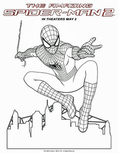 The Amazing Spider-man 2 coloring sheets