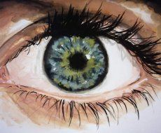 "Illusion: ""The Eye"" is a painting by Beau Bernier Frank.    http://illusion.scene360.com/news-community/sea-green/"