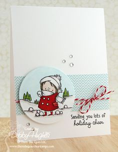 limedoodle, There She Goes stamps, Christmas card