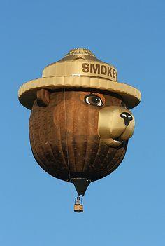 Smokey hot air balloon