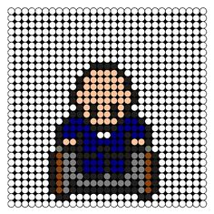 Prof X Perler Bead Pattern / Bead Sprite
