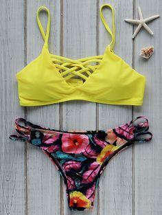 Floral Cami Yellow Bikini Set COLORMIX: Bikinis   ZAFUL   http://www.zaful.com/floral-cami-yellow-bikini-set-p_182845.html