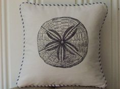shabby chic sand dollar pillow sham by kreativbyerika, $30.00