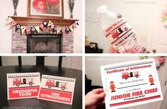 Fireman Birthday Party FREE Printables
