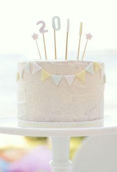 cute little cake banner