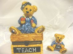 Boyds Bearware Pottery Ms Bruin teacher and Student by ChinaGalore, $22.00