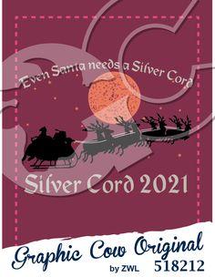 Silver Cord Santa Claus sleigh reindeer moon #christmas #grafcow