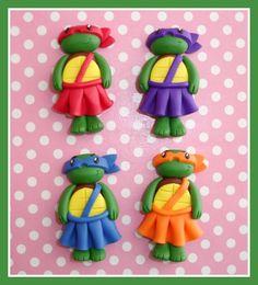 Girly Ninja Turtles in tutus