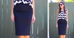 How perfect are these solid-colored high waist pencil skirts? These skirts are office ready. You can style this pencil skirt in so many ways.  Our favorite ways to wear this skirt are to pair it with a pretty solid or patterned blouse or blazer.  Transitions beautifully from day to night.  The elastic waistband provides a super comfortable fit.  Grab this Fall wardrobe staple while limited supplies last!  Size S-XL.  Made in USA.Color: BlackNavyRedFuchsiaTealSize: Small fits 0-4Medium fits…