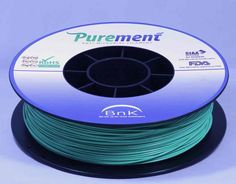 Antibacterial 3D printing filament, Purement, in Green www.cleanstrands.com