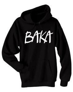 Baka Anime Hoodie japanese phrase sweatshirt funny insult design otaku anime convention hoodie geek clothing manga japan - unisex fit